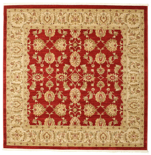 Ziegler Kaspin - Rot Teppich  192X192 Orientalischer Quadratisch Rost/Rot/Gelb ( Türkei)