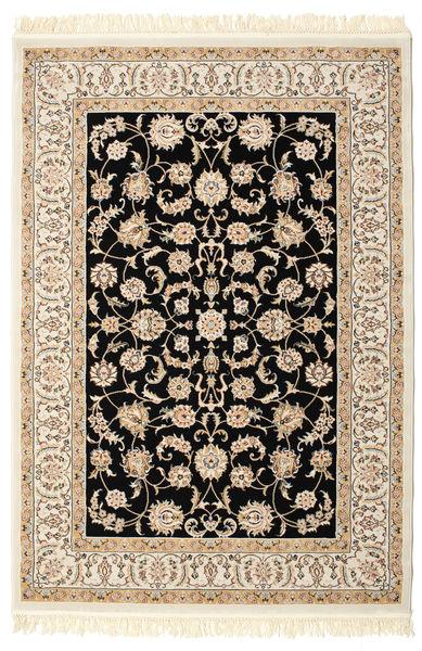 Nain Neizar Teppich  140X200 Orientalischer Beige/Schwartz ( Türkei)