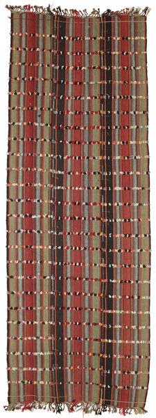 Kelim Konya Cicim Teppich  161X433 Echter Orientalischer Handgewebter Läufer Dunkelbraun/Dunkelrot (Wolle, Türkei)