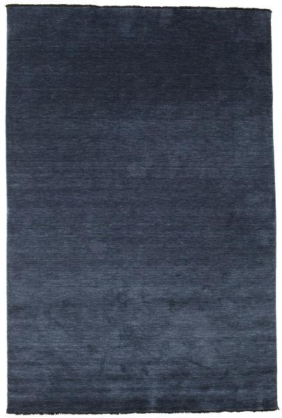 Handloom Fringes - Dunkelblau Teppich  200X300 Moderner Dunkelblau/Blau (Wolle, Indien)