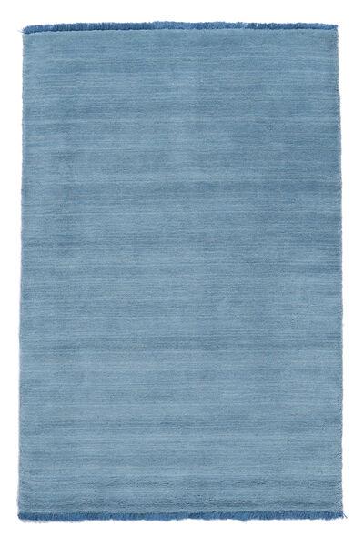 Handloom Fringes - Hellblau Teppich  200X300 Moderner Hellblau (Wolle, Indien)
