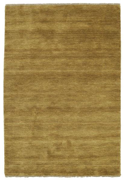 Handloom Fringes - Olivegrün Teppich  140X200 Moderner Olivgrün/Braun (Wolle, Indien)