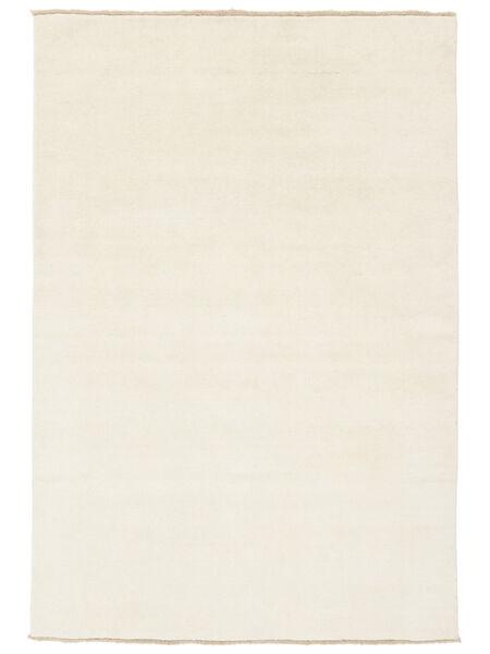 Handloom Fringes - Hell Teppich  140X200 Moderner Beige/Weiß/Creme (Wolle, Indien)