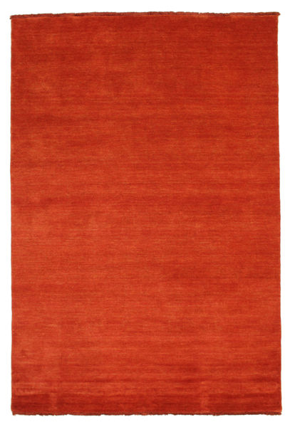 Handloom Fringes - Rost/Rot Teppich  140X200 Moderner Rost/Rot (Wolle, Indien)