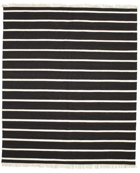 Dorri Stripe - Schwarz/Weiß Teppich  250X300 Echter Moderner Handgewebter Schwartz/Beige Großer (Wolle, Indien)