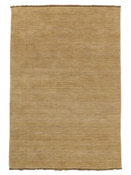 Handloom Fringes - Beige Teppich  200X300 Moderner Dunkel Beige/Beige (Wolle, Indien)