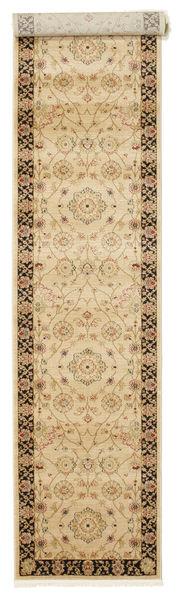 Farahan Ziegler - Beige Teppich  80X400 Orientalischer Läufer Dunkel Beige/Beige ( Türkei)