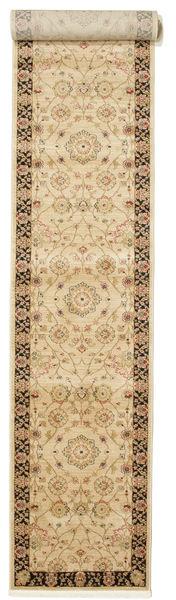 Farahan Ziegler - Beige Teppich  80X500 Orientalischer Läufer Dunkel Beige/Beige ( Türkei)