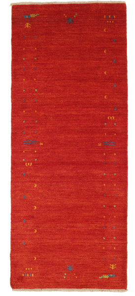 Gabbeh Loom Frame - Rot Teppich  80X200 Moderner Läufer Dunkelrot (Wolle, Indien)