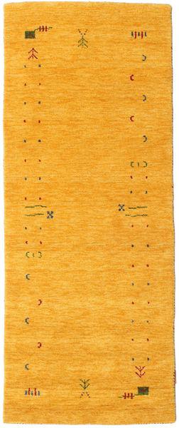 Gabbeh Loom Frame - Gelb Teppich  80X200 Moderner Läufer Gelb (Wolle, Indien)