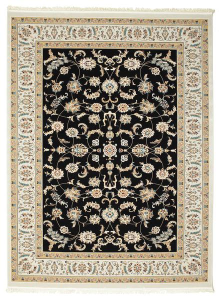 Nain Neizar Teppich  300X400 Orientalischer Schwartz/Dunkel Beige Großer ( Türkei)