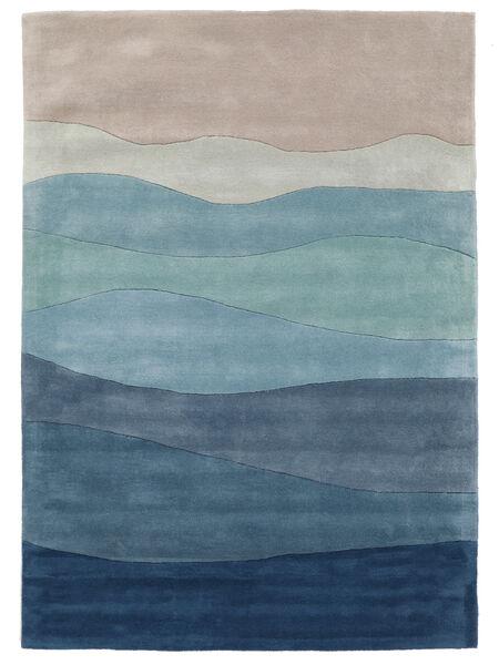 Feeling Handtufted - Blau Teppich  160X230 Moderner Hellblau/Hellgrau/Blau (Wolle, Indien)