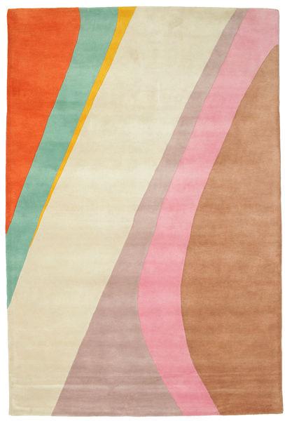 Dynamic Handtufted - Rosa Teppich  200X300 Moderner Beige/Rost/Rot (Wolle, Indien)