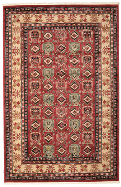 Kazak Simav Teppich  200X300 Orientalischer Dunkelrot/Dunkelbraun ( Türkei)