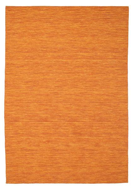 Kelim Loom - Orange Teppich  200X300 Echter Moderner Handgewebter Orange (Wolle, Indien)