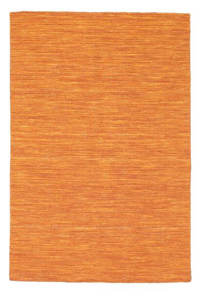 Kelim Loom - Orange Teppich  120X180 Echter Moderner Handgewebter Orange (Wolle, Indien)