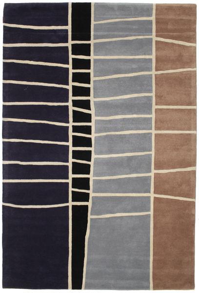 Abstract Bambus Handtufted Teppich  200X300 Moderner Dunkellila/Hellgrau (Wolle, Indien)