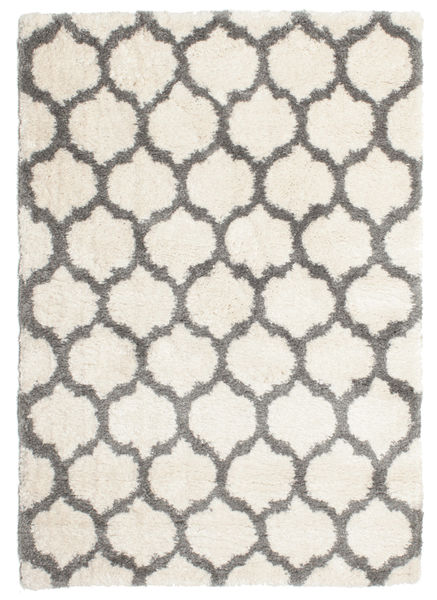 Berber Shaggy Illusia - Naturweiß/Grau Teppich  160X230 Moderner Beige/Hellgrau ( Türkei)