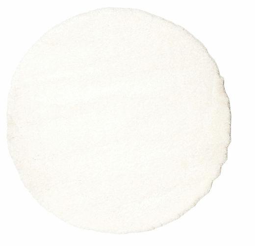 Shaggy Sadeh - Weiß Teppich  Ø 150 Moderner Rund Beige ( Türkei)