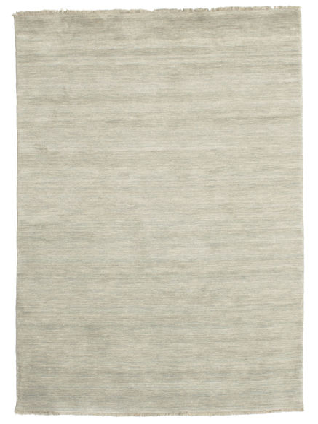 Handloom Fringes - Grau/Hellgrün Teppich  140X200 Moderner Hellgrau/Dunkel Beige (Wolle, Indien)