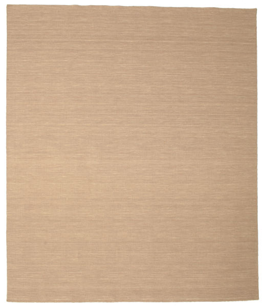 Kelim Loom - Beige Teppich  250X300 Echter Moderner Handgewebter Hellbraun/Dunkel Beige/Beige Großer (Wolle, Indien)