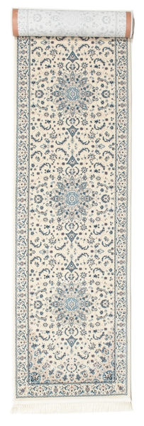 Nain Emilia - Cream/Hell Blau Teppich  80X300 Orientalischer Läufer Hellgrau/Beige ( Türkei)