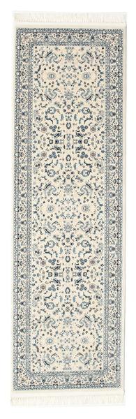 Nain Florentine - Cream Teppich  80X300 Orientalischer Läufer Hellgrau/Beige ( Türkei)