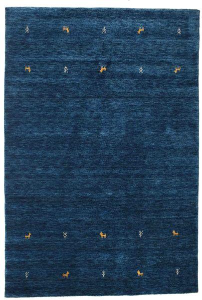 Gabbeh Loom Two Lines - Dunkelblau Teppich  160X230 Moderner Dunkelblau (Wolle, Indien)