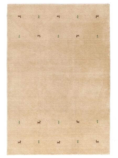 Gabbeh Loom Two Lines - Beige Teppich  160X230 Moderner Dunkel Beige/Hellbraun/Gelb (Wolle, Indien)