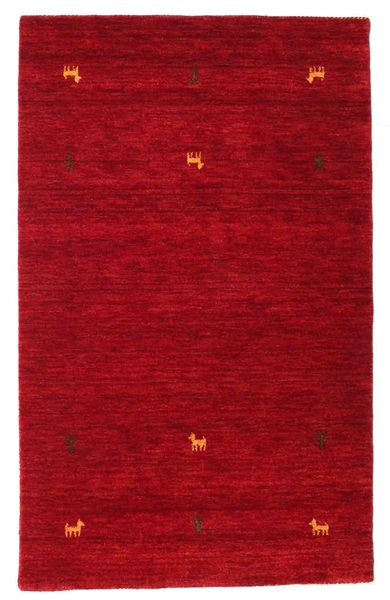 Gabbeh Loom Two Lines - Rot Teppich  100X160 Moderner Rot/Dunkelrot (Wolle, Indien)