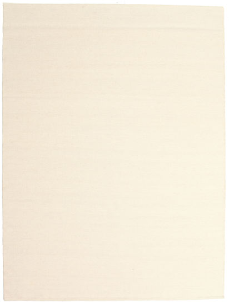 Kelim Loom - Naturweiß Teppich  160X230 Echter Moderner Handgewebter Beige/Weiß/Creme (Wolle, Indien)