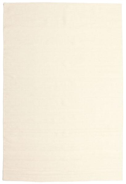 Kelim Loom - Naturweiß Teppich  200X300 Echter Moderner Handgewebter Beige/Weiß/Creme (Wolle, Indien)