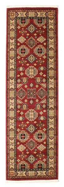 Schirwan Kazak Teppich  80X250 Orientalischer Läufer Dunkelrot/Hellbraun ( Türkei)