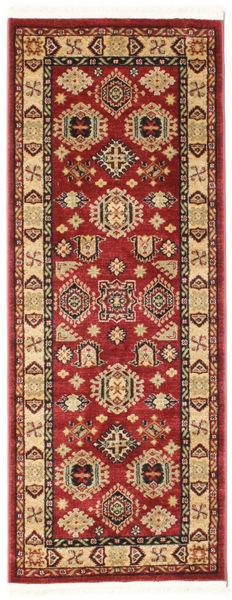 Schirwan Kazak Teppich  80X200 Orientalischer Läufer Dunkelrot/Dunkelbraun ( Türkei)