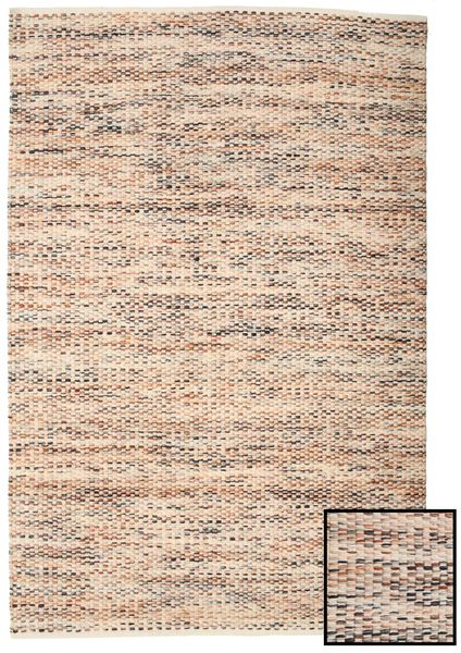 Pebbles - Multi Teppich  0X0 Echter Moderner Handgewebter Gelb/Dunkelbraun ( Indien)