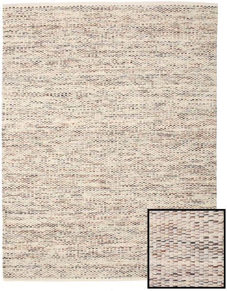 Pebbles - Braun Mix Teppich  200X250 Echter Moderner Handgewebter Hellgrau/Beige ( Indien)