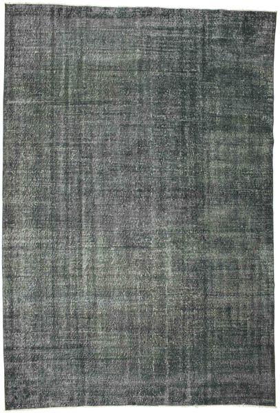 Colored Vintage Teppich  192X282 Echter Moderner Handgeknüpfter Dunkelgrau/Dunkelblau (Wolle, Türkei)