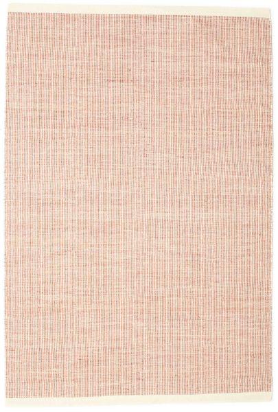 Seaby - Rost Teppich  160X230 Echter Moderner Handgewebter Hellrosa/Weiß/Creme (Wolle, Indien)
