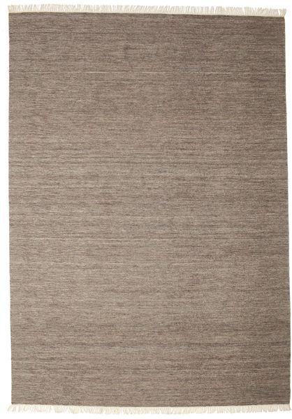 Melange - Braun Teppich  250X350 Echter Moderner Handgewebter Hellgrau/Braun Großer (Wolle, Indien)