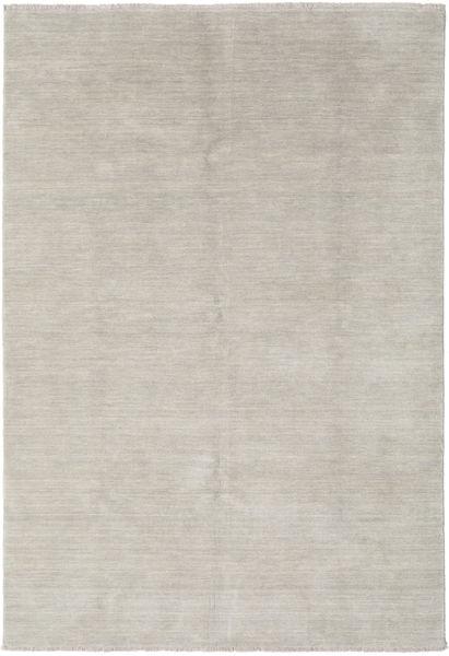 Handloom Fringes - Greige Teppich  160X230 Moderner Hellgrau (Wolle, Indien)