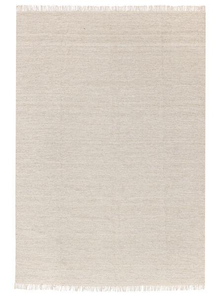 Melange - Sand Teppich  140X200 Echter Moderner Handgewebter Beige/Dunkel Beige (Wolle, Indien)