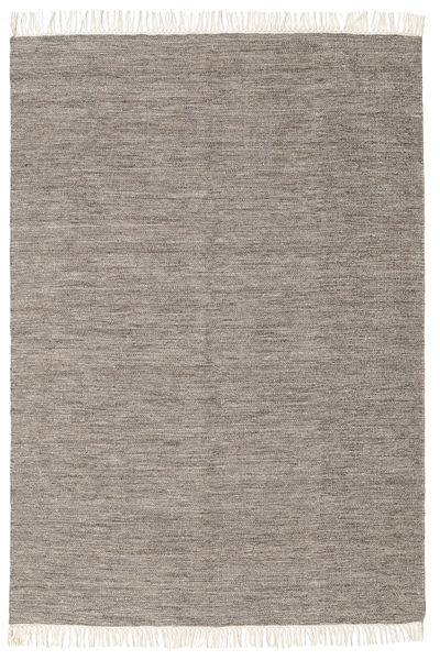Melange - Braun Teppich  140X200 Echter Moderner Handgewebter Hellgrau (Wolle, Indien)