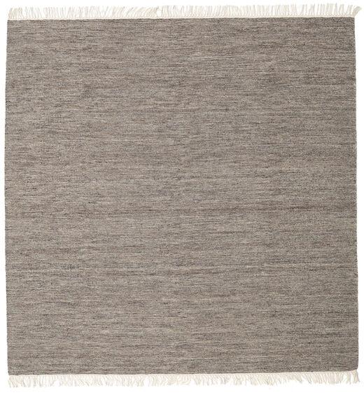 Melange - Braun Teppich  200X200 Echter Moderner Handgewebter Quadratisch Hellgrau/Dunkelgrau (Wolle, Indien)