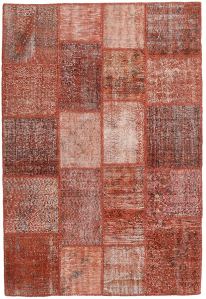 Patchwork Teppich  138X203 Echter Moderner Handgeknüpfter Dunkelrot/Hellrosa (Wolle, Türkei)