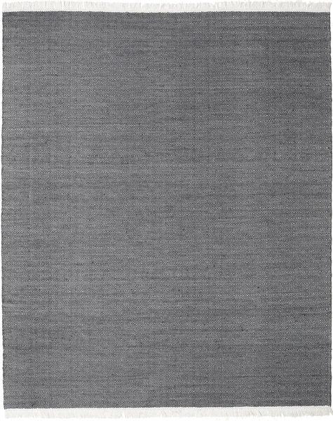 Diamond Wolle - Schwarz Teppich  240X300 Echter Moderner Handgewebter Dunkelgrau/Hellgrau (Wolle, Indien)