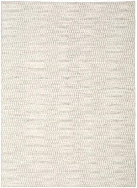 Kelim Long Stitch - Beige Teppich  210X290 Echter Moderner Handgewebter Hellgrau/Beige (Wolle, Indien)