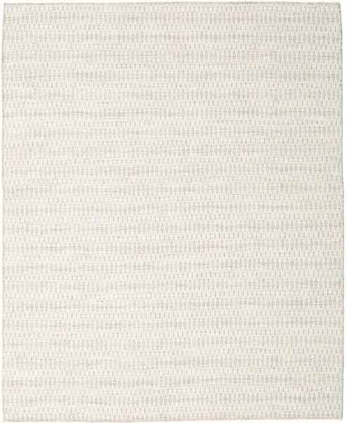 Kelim Long Stitch - Beige Teppich  240X300 Echter Moderner Handgewebter Dunkel Beige/Beige (Wolle, Indien)