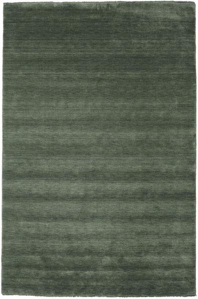 Handloom Fringes - Waldgrün Teppich  200X300 Moderner Olivgrün/Dunkelgrün (Wolle, Indien)