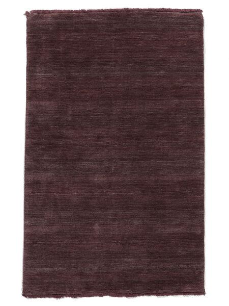 Handloom Fringes - Weinrot Teppich  140X200 Moderner Dunkellila/Dunkelbraun (Wolle, Indien)