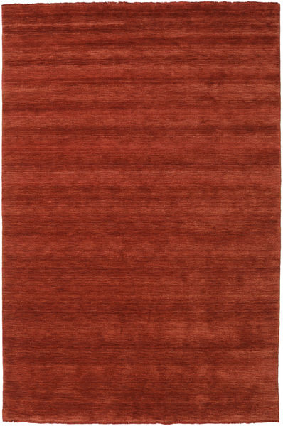 Handloom Fringes - Rostrot Teppich  200X300 Moderner Rot/Rost/Rot (Wolle, Indien)
